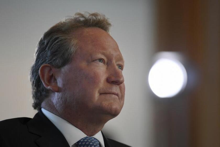 """El magnate australiano Andrew """"Twiggy"""" Forrest asiste a un evento. EFE/Mick Tsikas/PROHIBIDO SU USO EN AUSTRALIA Y NUEVA ZELANDA/Archivo"""
