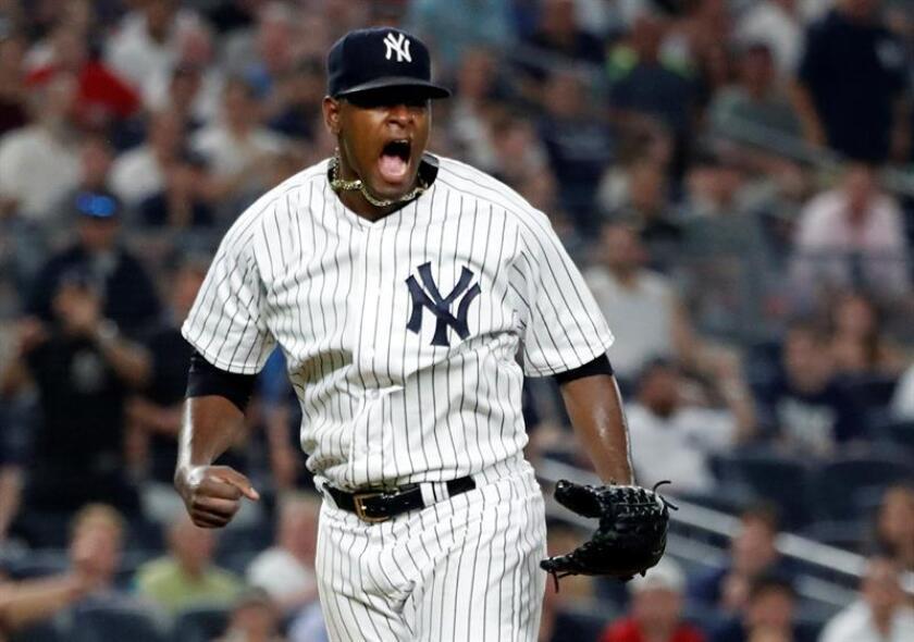 En la imagen, el jugador de los Yankees de Nueva York Luis Severino. EFE/Archivo