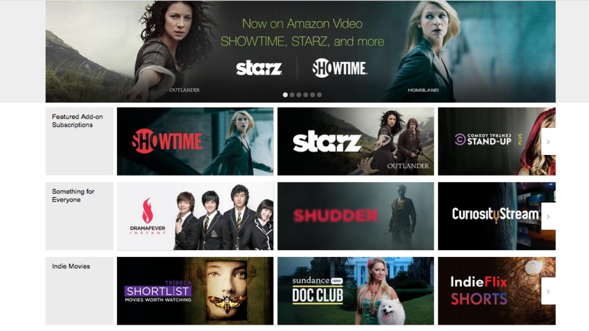 Allo Movies Streaming amazon brings starz, showtime, amc to prime members - los