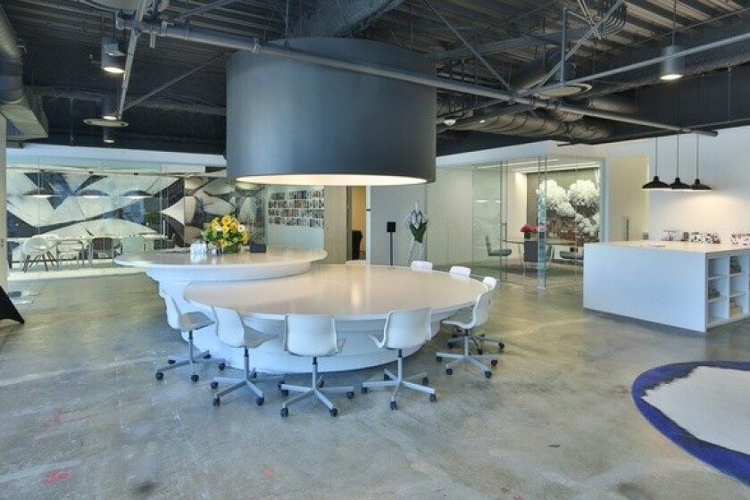 Grid110's collaborative workspace in downtown Los Angeles.
