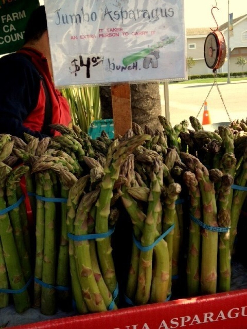 Spring can now begin -- Zuckerman's asparagus has arrived