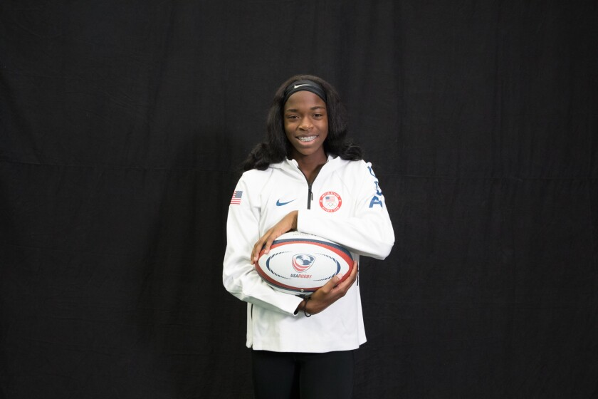 "DeAira Jackson, a former Rancho Cucamonga High soccer/track star who is now a goalkeeper at Cal State Fullerton, earned a spot to compete on the USA Rugby 7 Olympic roster after being named one of six winners of the TV show, ""Next Olympic Hopeful."""