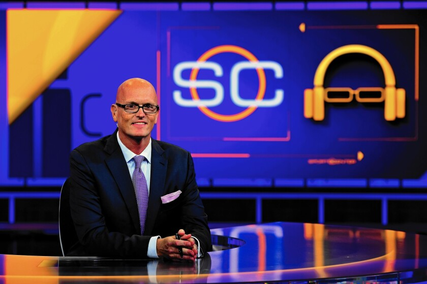 """ESPN has built a new late-night version of """"SportsCenter"""" around the quirky personality of Scott Van Pelt."""