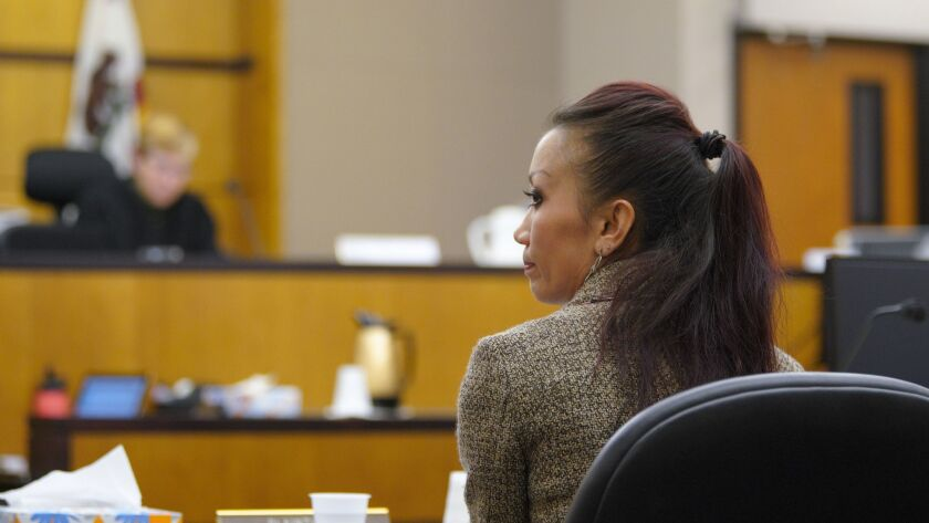 Mary Zahau-Loehner sat in court next to her attorney (Keith Greer) as a various witness testify during court proceedings in the civil case for the wrongful death of Rebecca Zahau in Coronado.