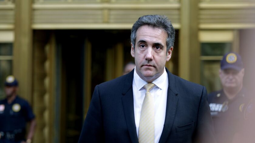 Michael Cohen pleaded guilty to charges involving bank fraud, tax fraud and campaign finance violations. Earlier this year, he was reportedly shopping a flattering book about Donald Trump.