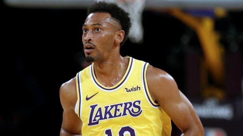 LOS ANGELES, CALIF. -- TUESDAY, OCTOBER 2, 2018: Los Angeles Lakers forward Johnathan Williams (19)