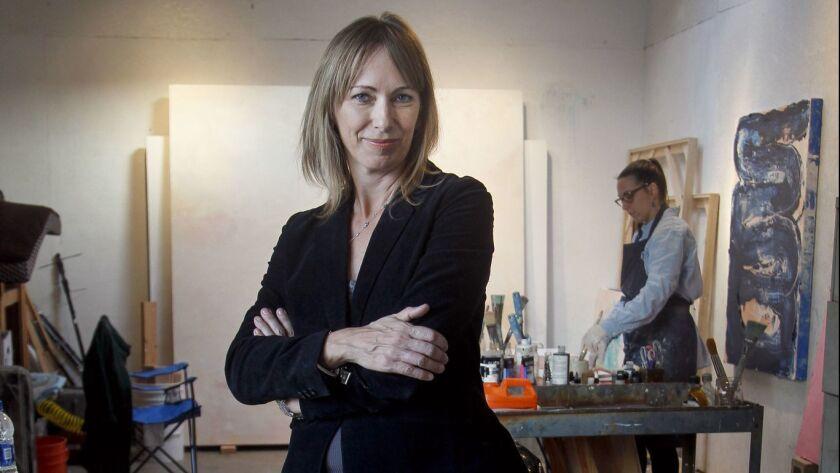 SAN DIEGO, December 20, 2018 | Space 4 Art Executive Director Jennifer de Poyen in a studio shared b