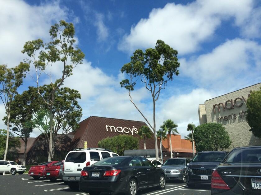 A mall parking lot