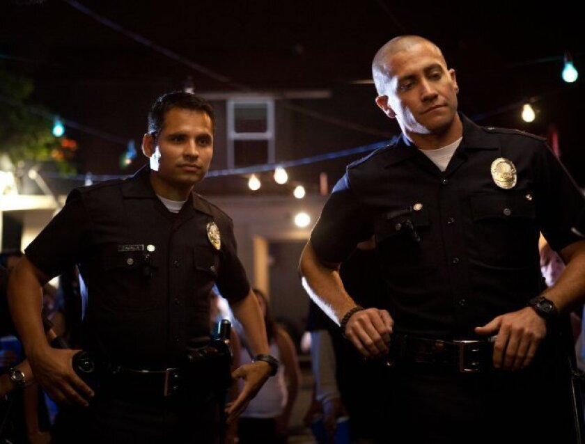 """Michael Pena and Jake Gyllenhaal star in """"End of Watch,"""" which was the No. 1 film at the box office this weekend."""