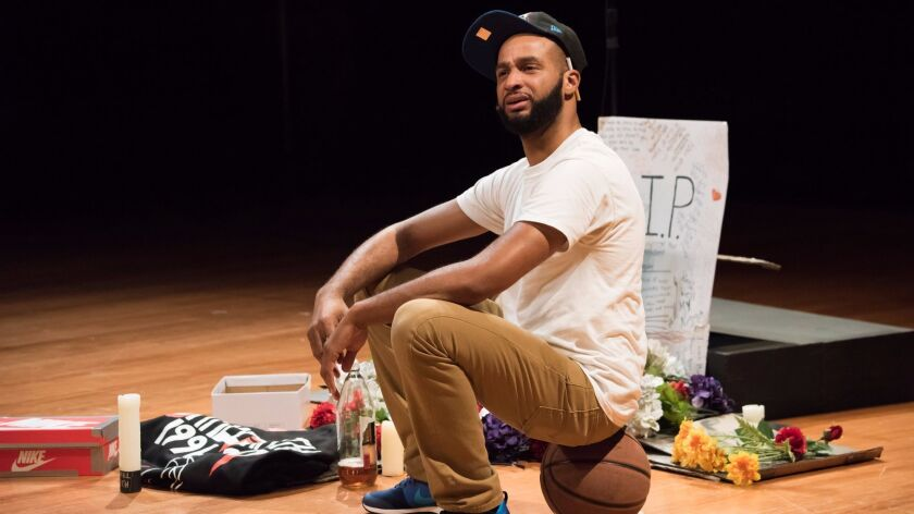"""Keith A. Wallace in """"The Bitter Game"""" at Costa Mesa's Segerstrom Center."""