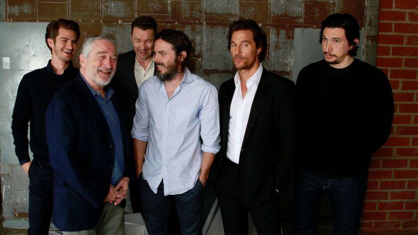 From left: Andrew Garfield, Robert De Niro, Joel Edgerton, Casey Affleck, Matthew McConaughey and Adam Driver.