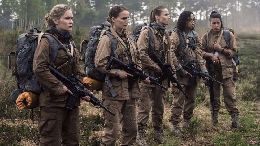 (L-R) - Gina Rodriguez, Jennifer Jason Leigh, Natalie Portman, Tessa Thompson and Tuva Novotnyin in