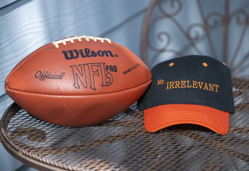 The last pick of the 2020 NFL Draft will determine who is to become the 45th Mr. Irrelevant.