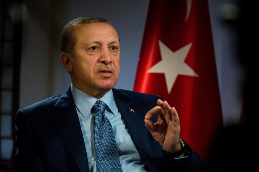 Recep Tayyip Erdogan, Turkey's president, seen in September 2016, spoke with President Donald Trump via a call late Tuesday.