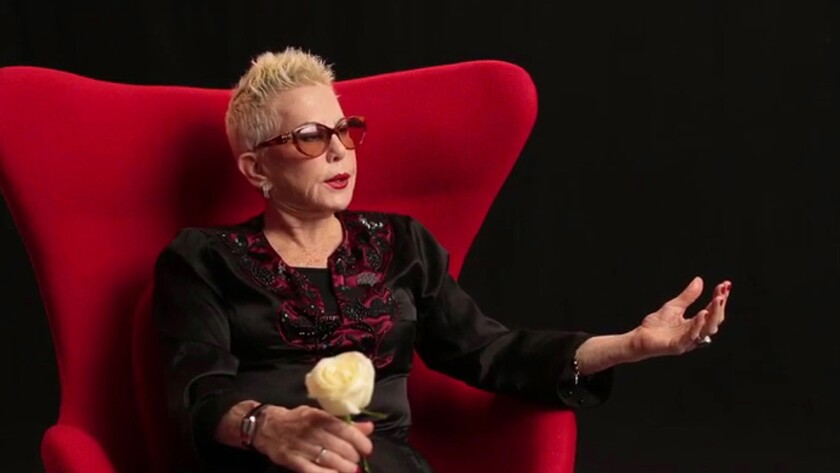 """Celebrity and style photographer Rose Hartman, 80, sits for an interview with Otis Mass, director of the documentary feature """"The Incomparable Rose Hartman."""""""