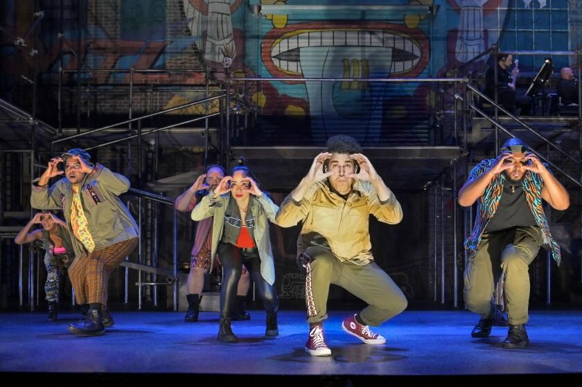 "The cast of La Jolla Playhouse's new musical ""Kiss My Aztec!,"" written by frequent Playhouse collaborator John Leguizamo."