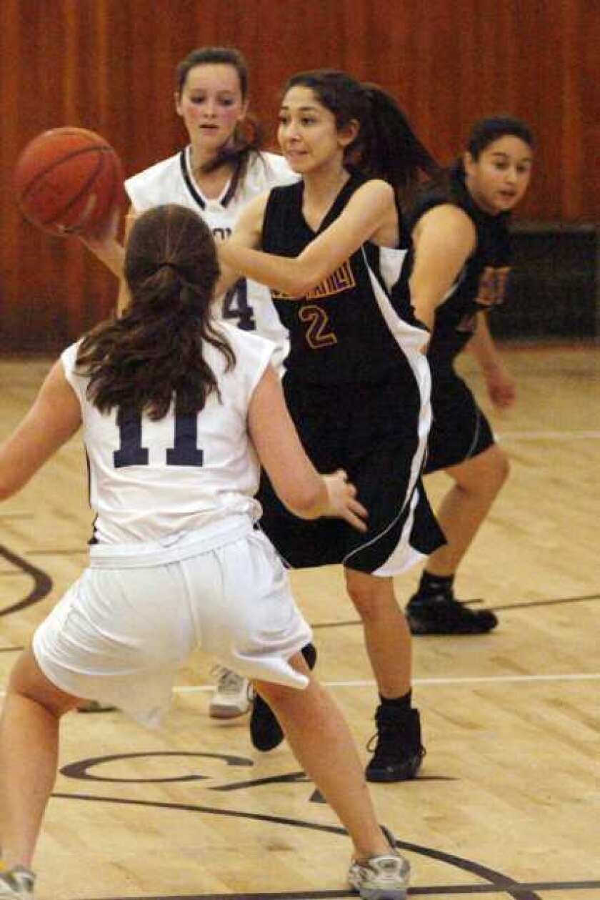 Holy Family basketball too much for St. Monica Academy