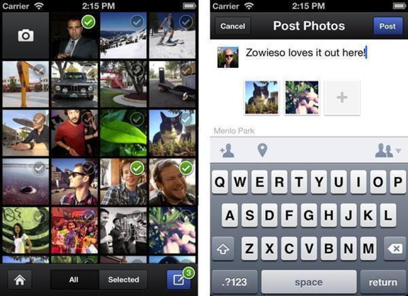 New camera app for iPhone gives only a snapshot of Facebook