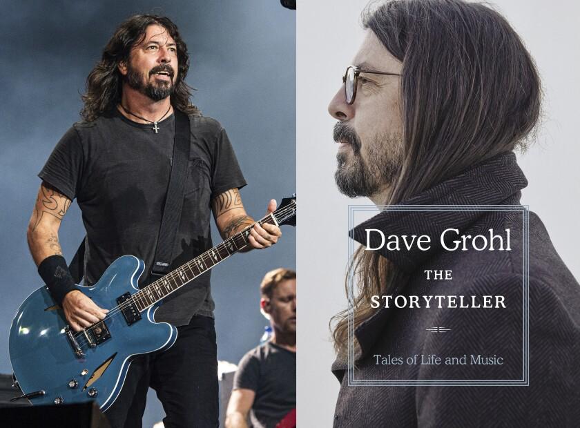 En esta combinación de fotos, Dave Grohl de los Foo Fighters