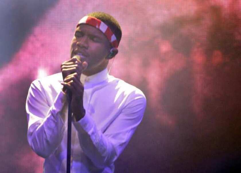 Frank Ocean, shown during a 2011 performance at the El Rey Theatre in Los Angeles, released his new album in digital form on iTunes a week before its release as a physical CD, prompting Target to decline to carry it.