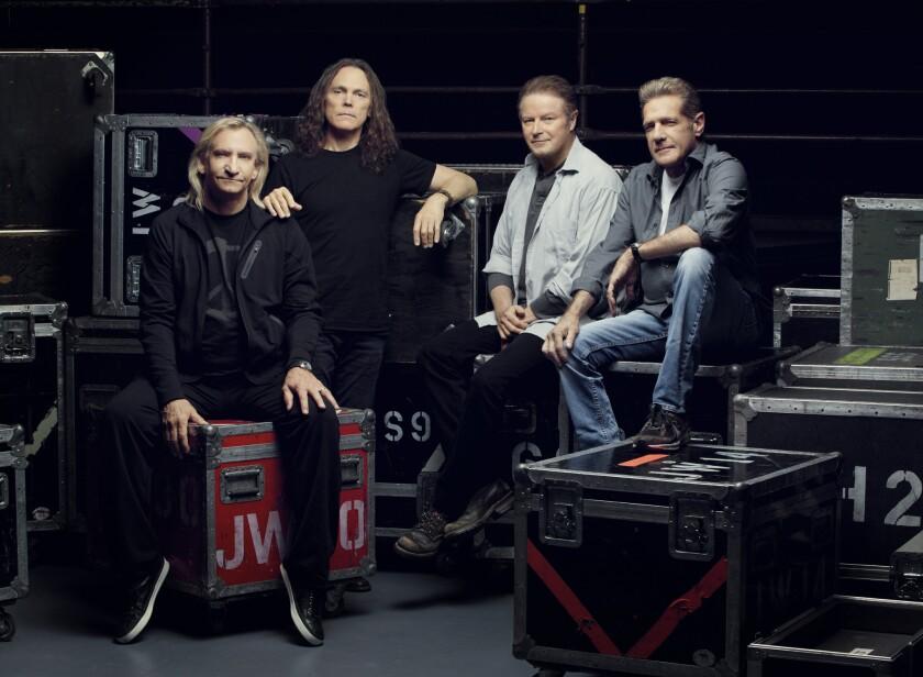 The Eagles (l/r): Joe Walsh, Timothy B. Schmit, Don Henley and Glenn Frey.