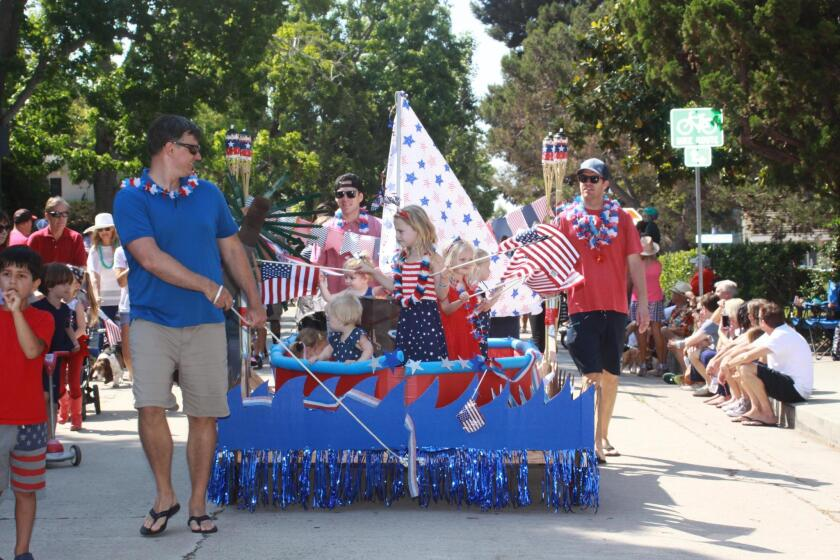 A scene from the 2017 Bird Rock Independence Day parade, complete with homemade floats. The 2018 parade begins 10 a.m. Wednesday, July 4 at Beaumont Avenue and Camino de la Costa.