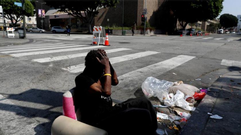 Un hombre sin hogar