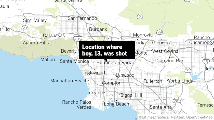 Locator map of South L.A. shooting