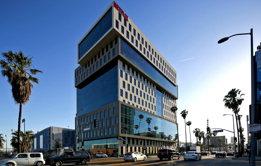 Netflix headquarters in Hollywood.