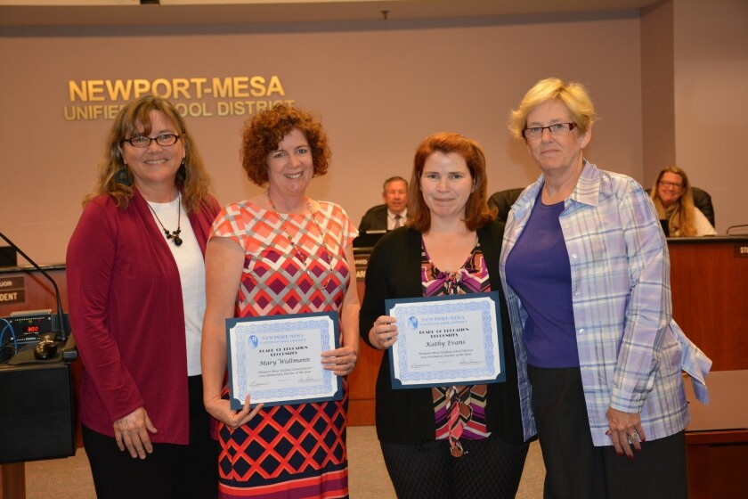 Newport-Mesa employees honored