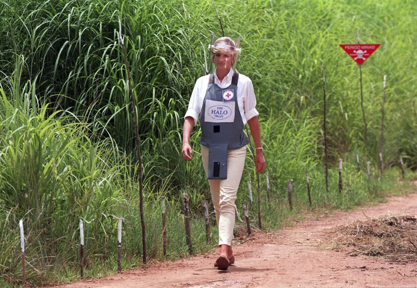 Princess Diana in Angola in 1997.