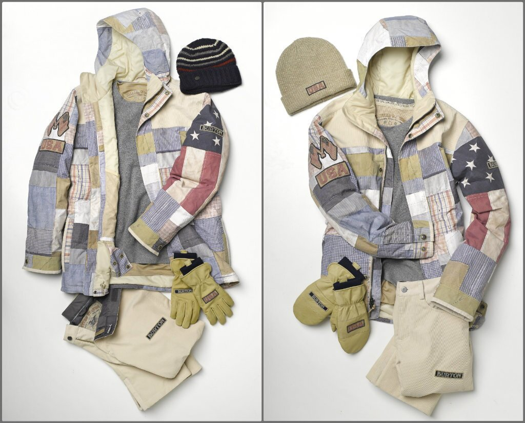 Burton unveiled its U.S. snowboard team uniform collections for the men, left, and women headed to the Winter Olympic Games in Sochi, Russia.