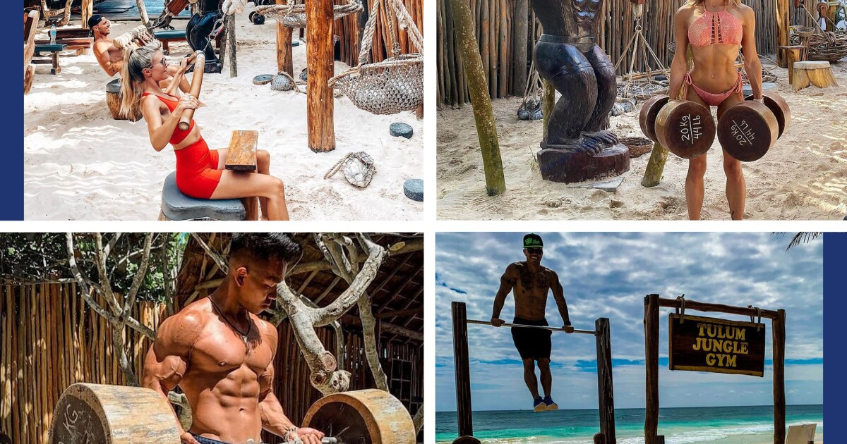L.A. gym rats and influencers went to Tulum for pandemic workouts