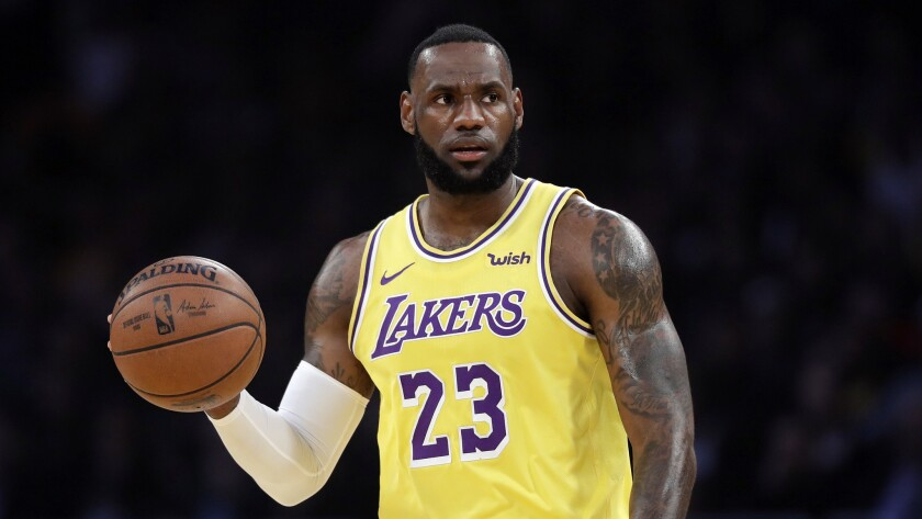 new arrival 0c668 2354c LeBron James thinks he's one of Lakers greats. Fans disagree ...