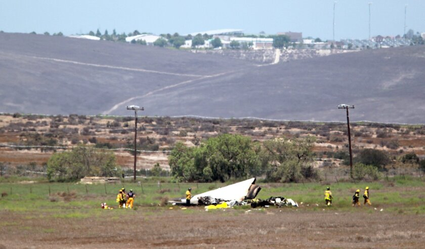 Five people are confirmed dead in a plane accident near the approach to Brown Field Sunday morning.
