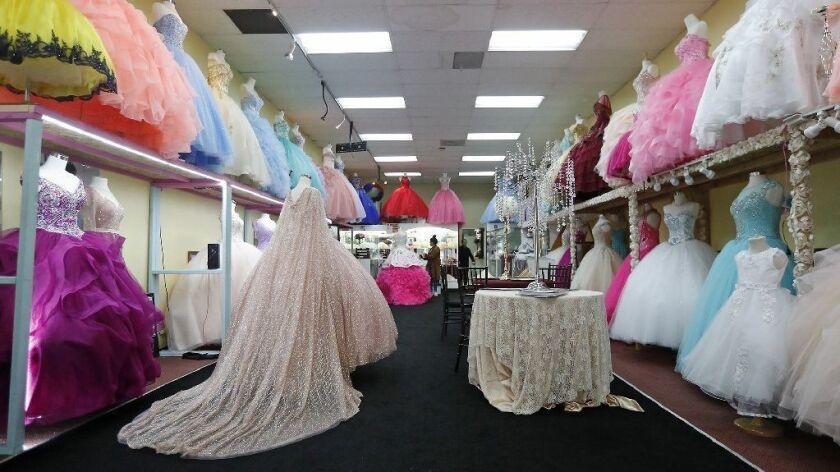 1efcb54e Quinceañera dress shops, a staple of Santa Ana, are leaving a ...