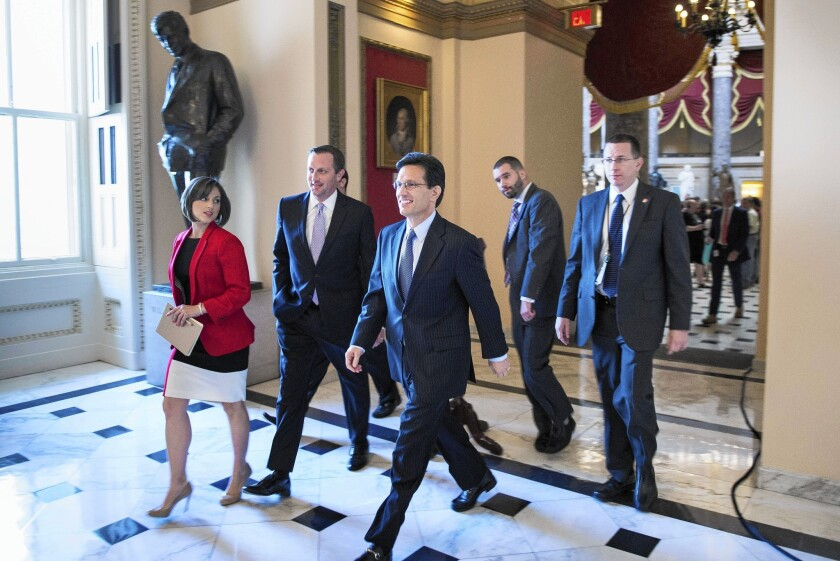 Former House Majority Leader Eric Cantor (R-Va.), who has resigned early, said in January that Republicans would develop and vote on a plan to replace Obamacare.
