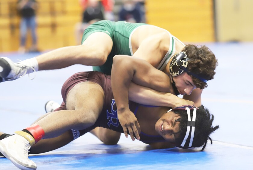 Poway High's Andre Gonzales became an individual CIF section champion at 132 pounds on Saturday.