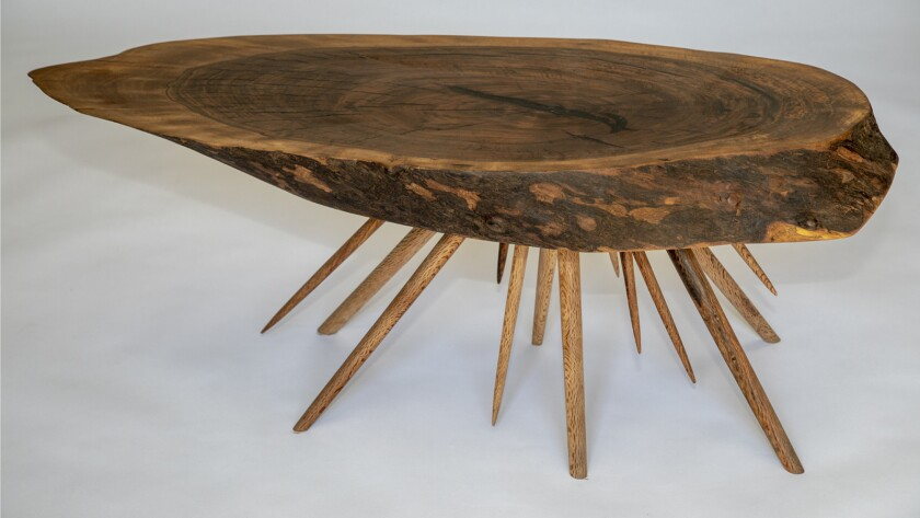 LOS ANGELES, CA - SEPTEMBER 06, 2018 - Table designed by Tyler Dituri, of Wildwood Wares & Furnishin