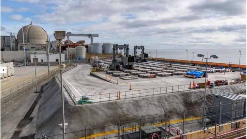 An overview of the new dry cask storage facility at the San Onofre Nuclear Generating Station.