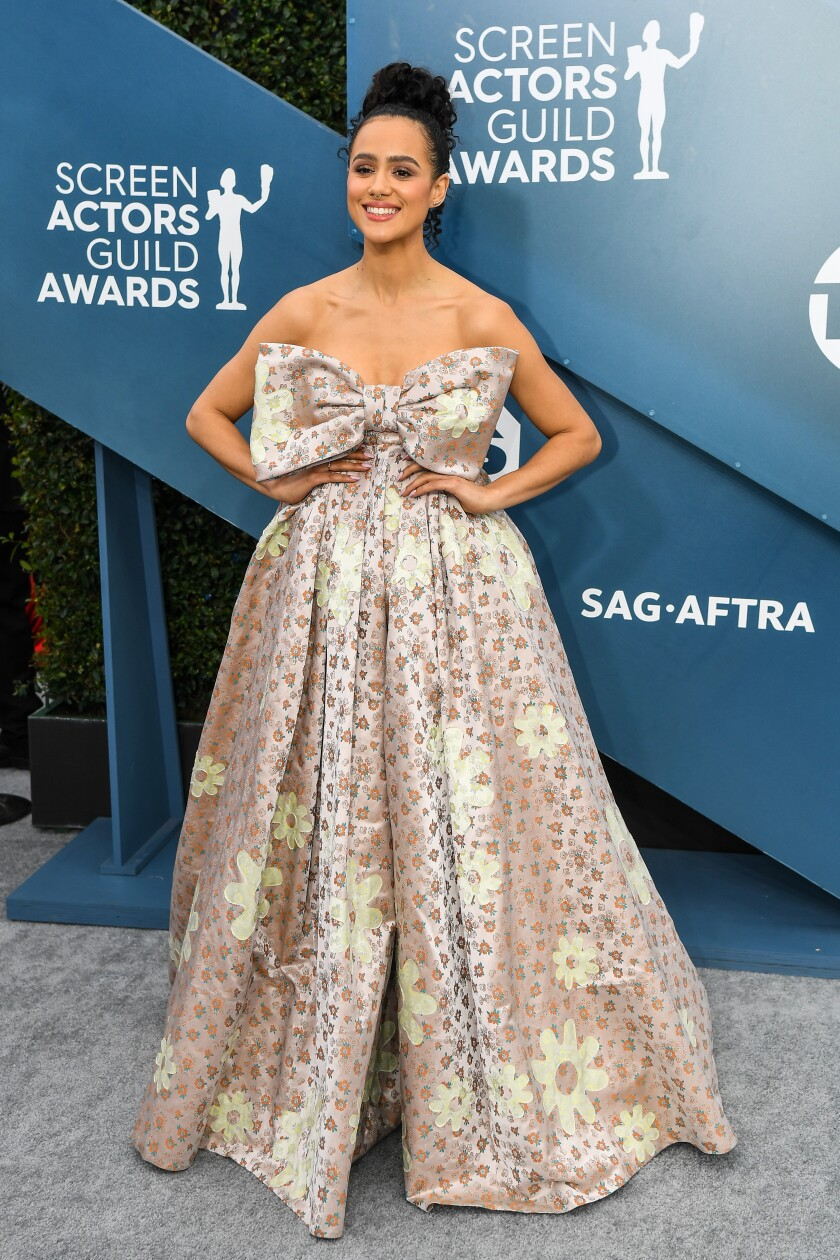 Nathalie Emmanuel at the 2020 SAG Awards