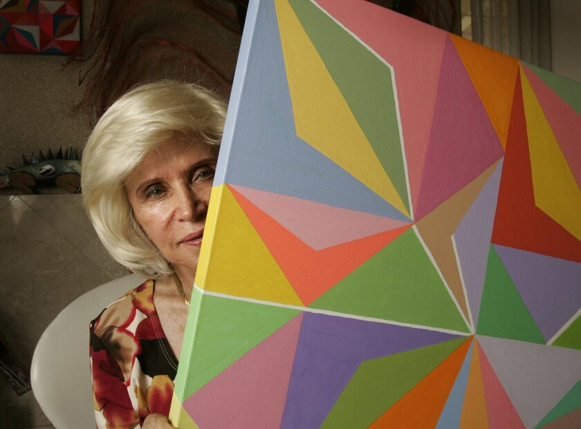 Gayle Grant, whose real name is Donna Rubin, will have her artwork displayed this month in El Cajon. (Howard Lipin / Union-Tribune)