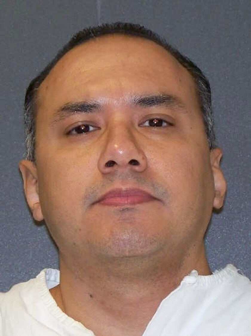 This undated photo provided by the Texas Department of Criminal Justice shows Gustavo Garcia. Garcia's lethal injection scheduled for Tuesday, Feb. 16, 2016, would be the third this year in Texas, which carries out capital punishment more than any other state. Garcia was sentenced to death for the