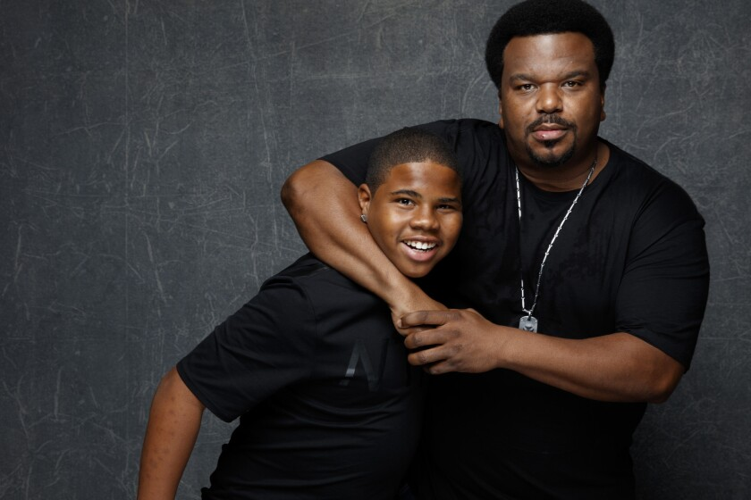 """From the cast of the film """"Morris from America,"""" Craig Robinson, left, and Markees Christmas."""