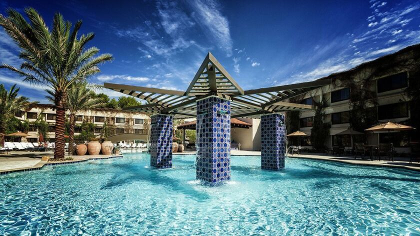 The pool at the Scottsdale Resort at McCormick Ranch in Scottsdale, Arizona. Credit: The Scottsdale