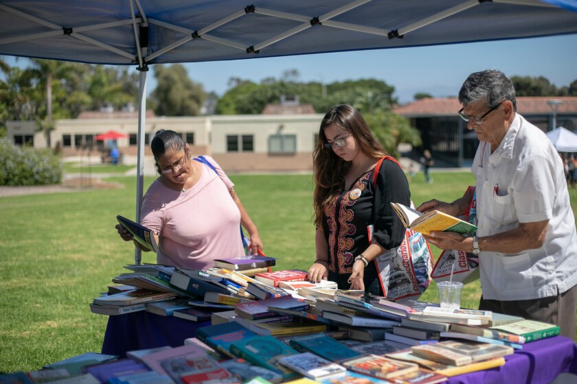 The Latino Book and Family Festival at MiraCosta College will be held from 10 a.m. to 5 p.m. Saturday at the Oceanside campus, 1 Barnard Drive. The free festival is expected to attract more than 5,000 people from throughout the region.