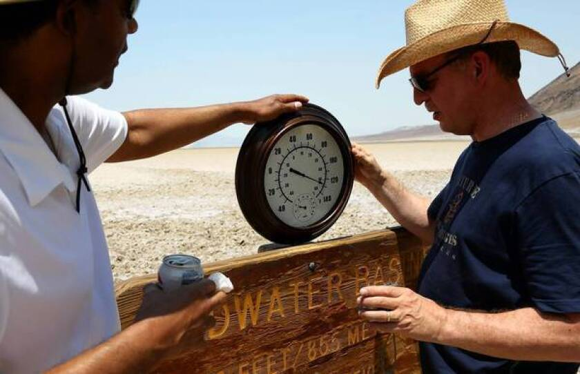 Yes, Death Valley was hot, but did it set a record?