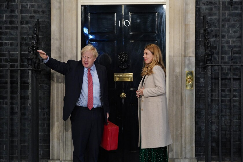 British Prime Minister Boris Johnson arrives at Downing Street