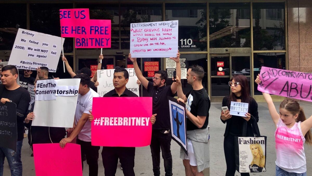 Britney Spears hearing on conservatorship draws fans to downtown ...