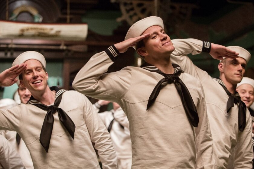 """Channing Tatum's tongue-in-cheek bar tap dance from the """"On the Town""""-esque sailor suit number in """"Hail, Caesar!"""" is worth watching again and again."""